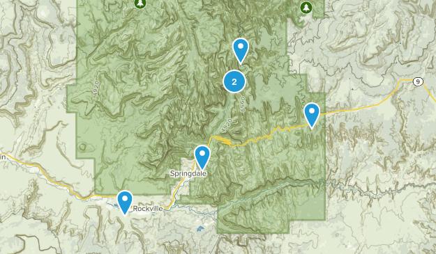 Springdale, Utah Camping Map