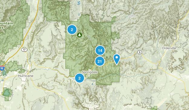 Springdale, Utah No Dogs Map