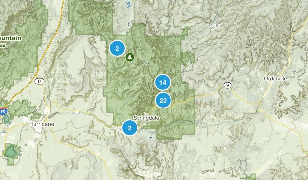 Springdale, Utah Hiking Map