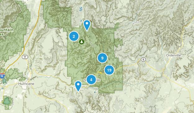 Springdale, Utah Nature Trips Map