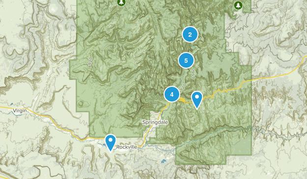 Springdale, Utah River Map