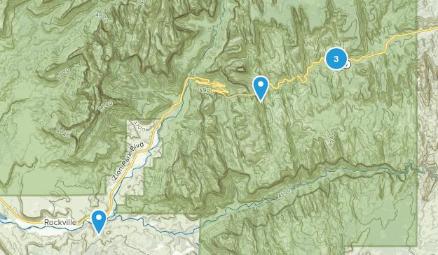 Springdale, Utah Rock Climbing Map