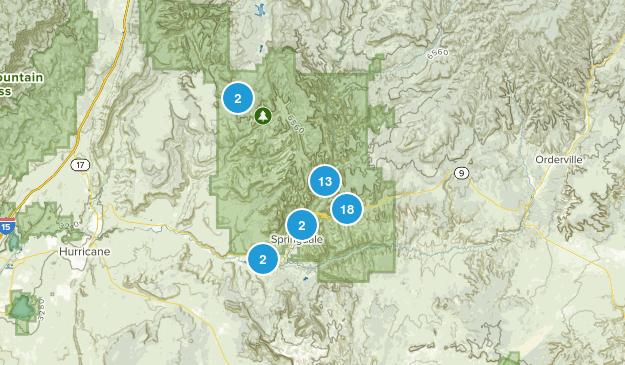 Springdale, Utah Walking Map