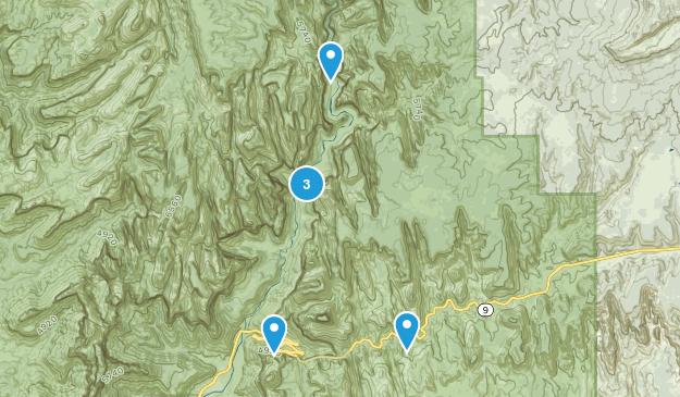 Springdale, Utah Waterfall Map