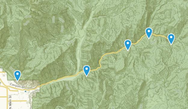 Springville, Utah Forest Map