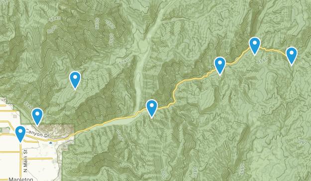 Springville, Utah Hiking Map