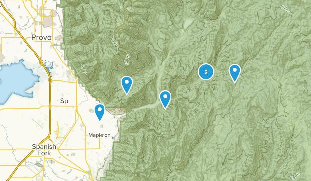 Springville, Utah Mountain Biking Map
