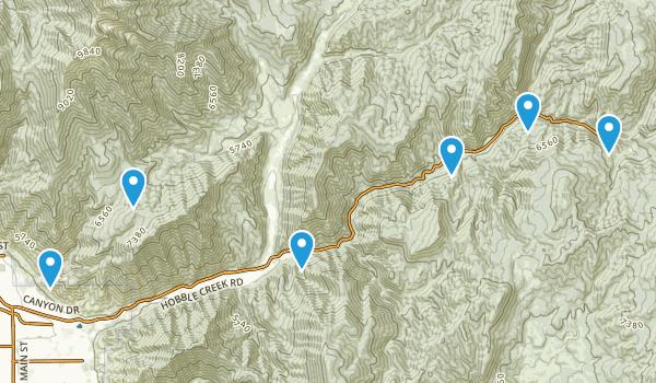 Springville, Utah Nature Trips Map