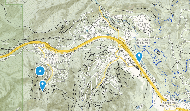 Summit Park, Utah Views Map