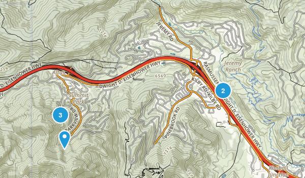 Summit Park, Utah Walking Map