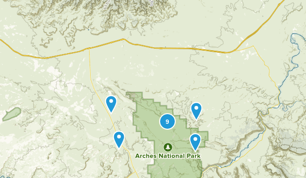 Thompson, Utah Hiking Map