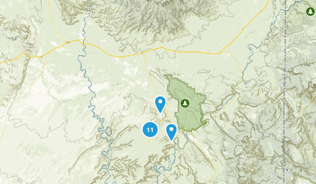 Thompson Springs, Utah Mountain Biking Map