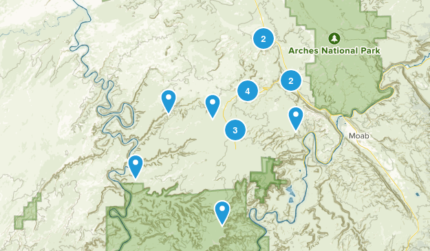 Thompson Springs, Utah Views Map