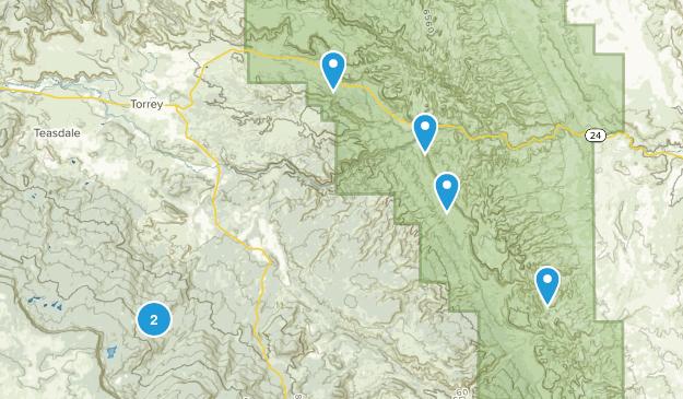 Torrey, Utah Camping Map