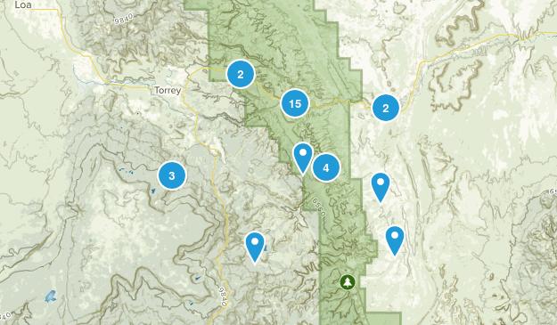 Torrey, Utah Hiking Map