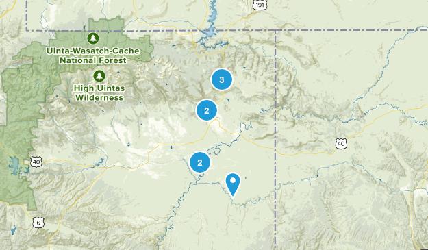 Vernal, Utah Dogs On Leash Map
