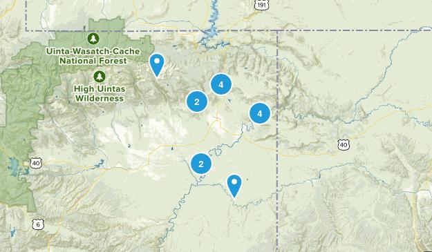 Vernal, Utah Hiking Map