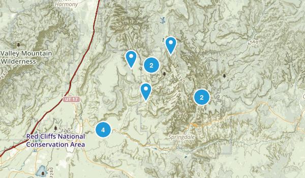 Virgin, Utah Nature Trips Map