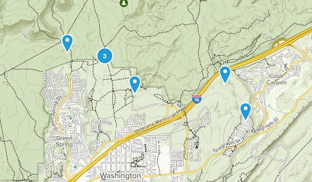 Washington, Utah Dogs On Leash Map