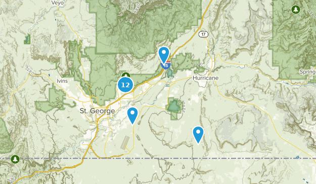 Washington, Utah Hiking Map