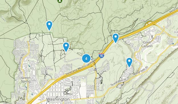 Washington, Utah Mountain Biking Map