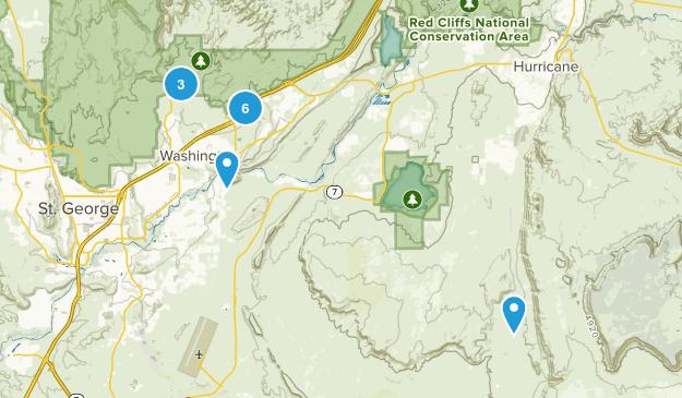 Washington, Utah Nature Trips Map