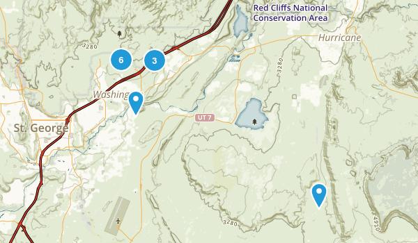 Washington, Utah Walking Map