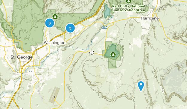 Washington, Utah Wild Flowers Map