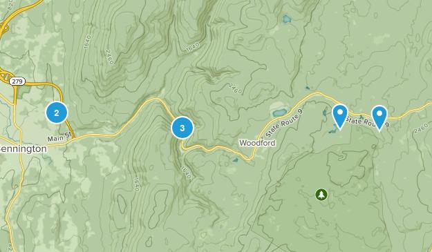 Bennington, Vermont Hiking Map