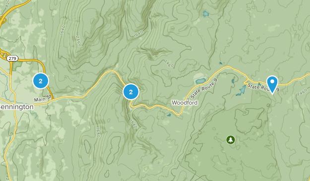 Bennington, Vermont Nature Trips Map