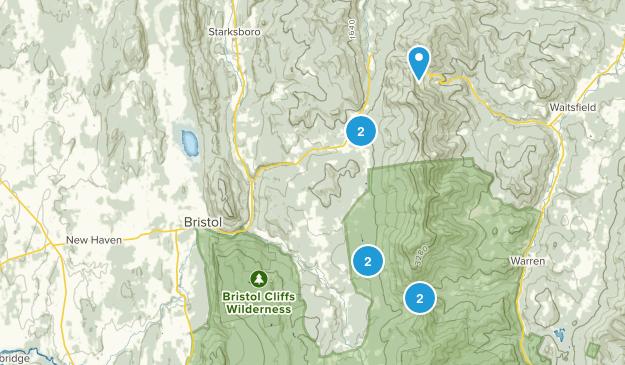 Bristol, Vermont Hiking Map