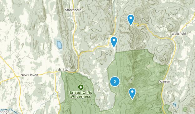 Bristol, Vermont Nature Trips Map