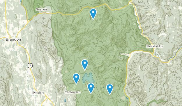 Chittenden, Vermont Hiking Map