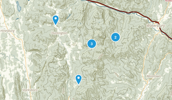 Huntington, Vermont Forest Map