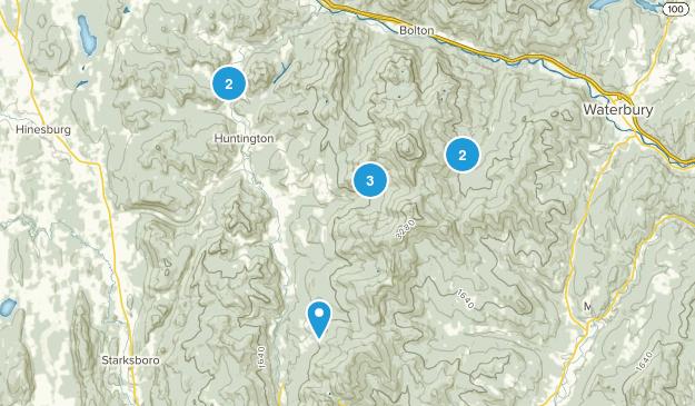Huntington, Vermont Trail Running Map