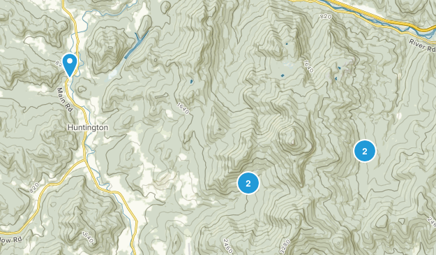 Huntington, Vermont Walking Map