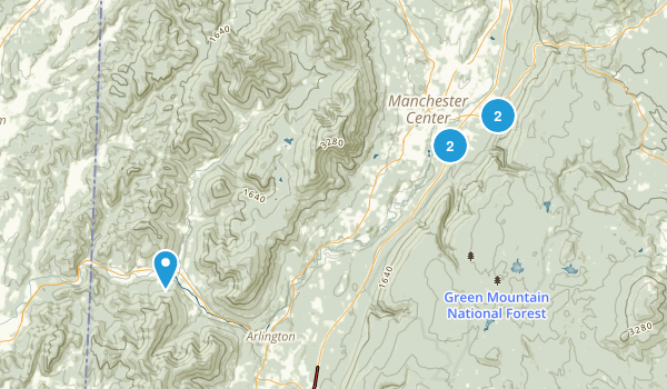 Manchester Center, Vermont Forest Map