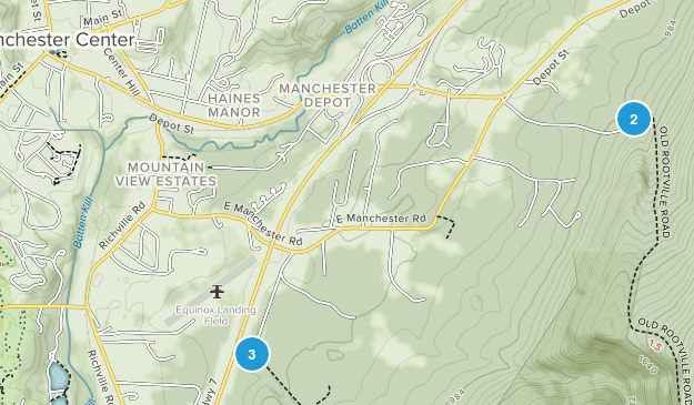 Manchester Center, Vermont Hiking Map