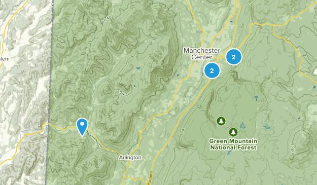 Manchester Center, Vermont Views Map