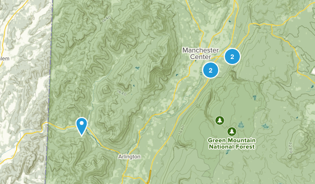 Manchester Center, Vermont Wild Flowers Map