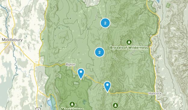 Ripton, Vermont Hiking Map