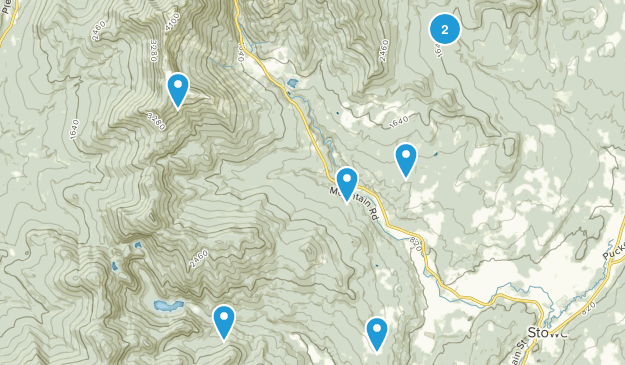 Stowe, Vermont Cross Country Skiing Map