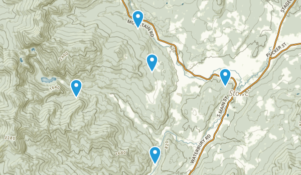 Stowe, Vermont Mountain Biking Map