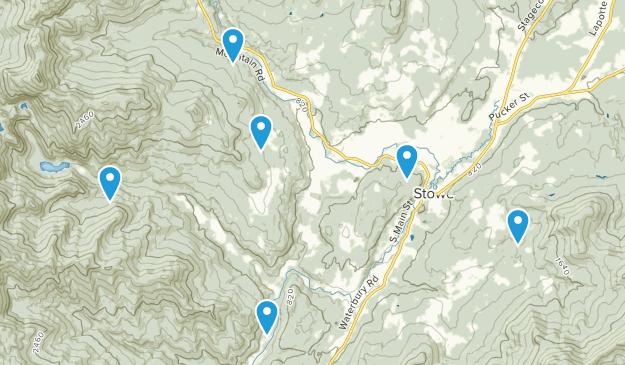 Stowe, Vermont Mountain Biking Map