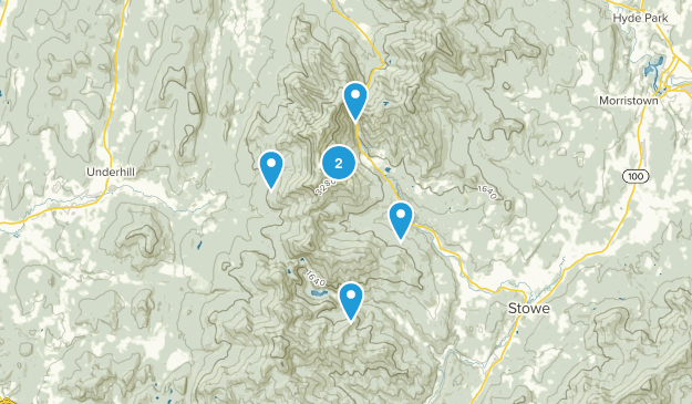 Stowe, Vermont Skiing Map