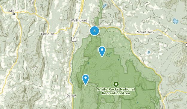 Wallingford, Vermont Hiking Map