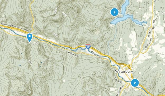 Waterbury, Vermont Views Map