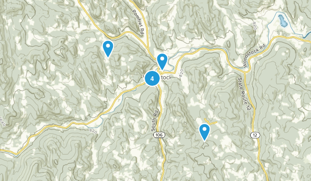 Woodstock, Vermont Forest Map