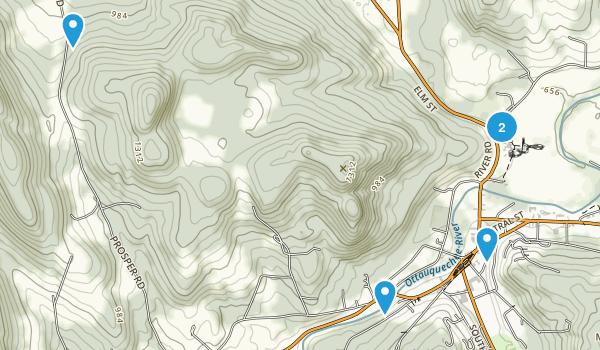 Woodstock, Vermont Snowshoeing Map