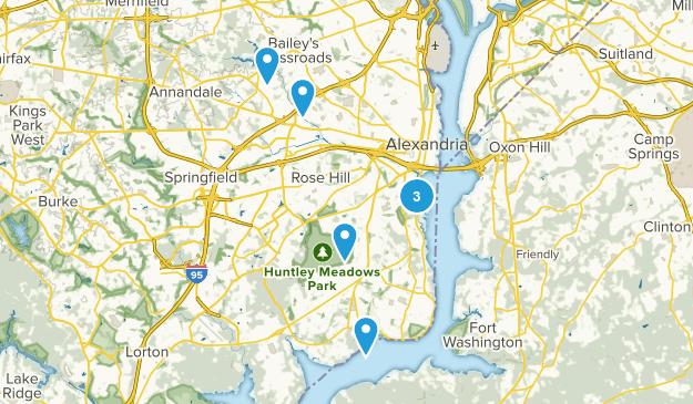 Alexandria, Virginia Hiking Map